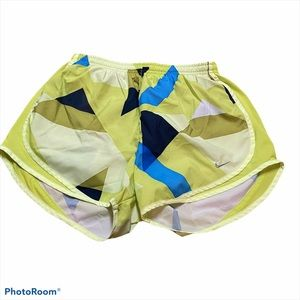 Nike neon fun patterned running shorts